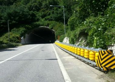 Red Color Protective Safety Roller Barrier For Tunnel Entrance Tunnel Portal