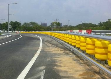 Highway Protective Safety Roller Barrier Eva / Pu Material For Road Traffice Safty